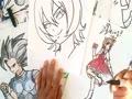 Asi Dibuja a HIMIKA AKANEYA de MAHOU SHOUJO SITE XDEIOS